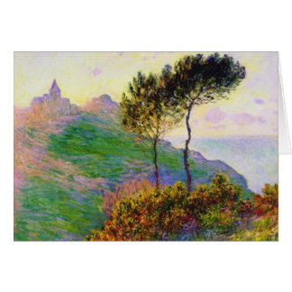 The Church at Varengeville, against the Sunset Card