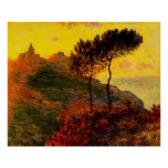 The Church at Varengeville, against the Sunset Print