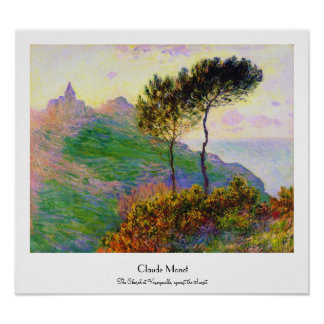 The Church at Varengeville, against the Sunset Poster