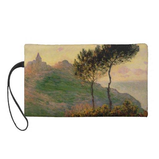 The Church at Varengeville - Claude Monet Wristlet Clutch