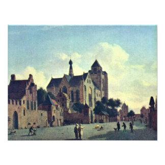 The Church At Veere.,  By Jan Van Der Heyden  (Bes Custom Invites