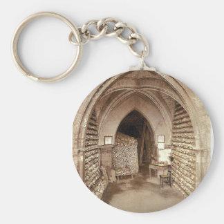 The church crypt Hythe England rare Photochrom Key Chain