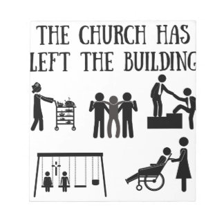 The Church has Left the Building Notepad
