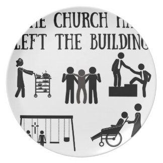 The Church has Left the Building Plate