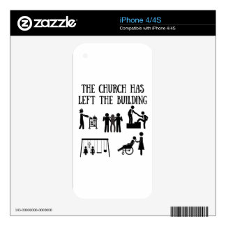 The Church has Left the Building Skin For The iPhone 4S