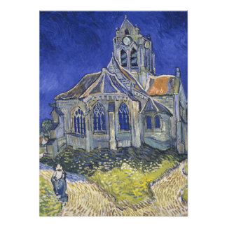 The Church in Auvers by Vincent van Gogh Invite