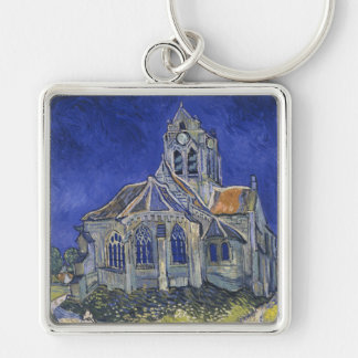 The Church in Auvers by Vincent van Gogh Keychain
