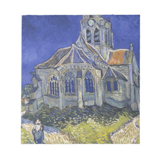 The Church in Auvers by Vincent van Gogh Notepad