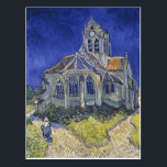 """The Church in Auvers by Vincent van Gogh Postcard<br><div class=""""desc"""">The Church in Auvers by Vincent van Gogh the church in auvers, wheat field with cypresses, sunflowers, irises, starry night, vintage, public domain, vincent van gogh, van gogh, vase</div>"""