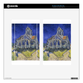 The Church in Auvers by Vincent van Gogh Skin For Kindle Fire