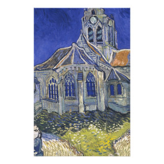The Church in Auvers by Vincent van Gogh Stationery
