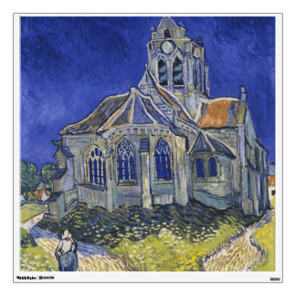 The Church in Auvers by Vincent van Gogh Room Stickers