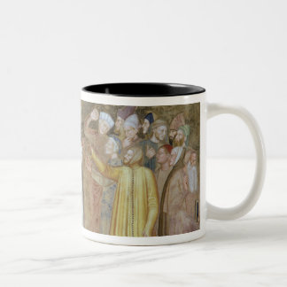 The Church Militant and Triumphant, detail of the Two-Tone Coffee Mug