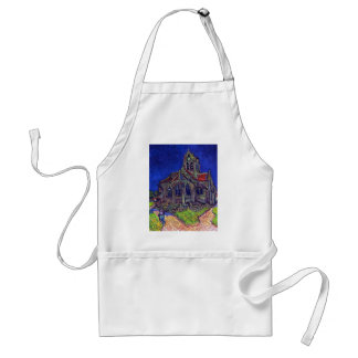 The Church of Auvers by Vincent Willem van Gogh Adult Apron