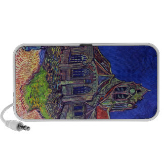 The Church of Auvers by Vincent Willem van Gogh Laptop Speakers