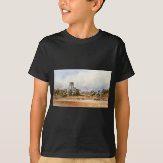 The church of New Harmony by Karl Bodmer T-Shirt