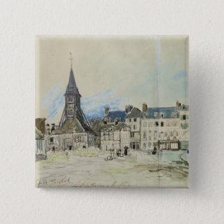 The Church of Sainte-Catherine, Honfleur, 1864 Button