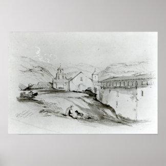The Church of San Francisco, Valparaiso, 1834 Poster