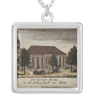 The Church of St. George in Konigsstadt, Silver Plated Necklace