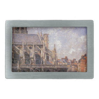 The Church of St Jacques in Dieppe, Morning Sun Rectangular Belt Buckle