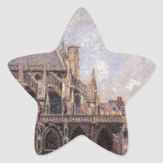 The Church of St Jacques in Dieppe, Morning Sun Star Sticker