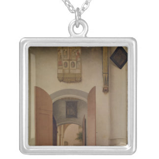 The Church of St. Laurens, Alkmaar, 1661 Silver Plated Necklace