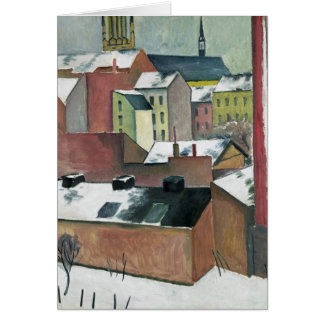 The Church of St Mary in Bonn in Snow, 1911 Card