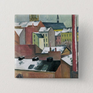 The Church of St Mary in Bonn in Snow, 1911 Pinback Button