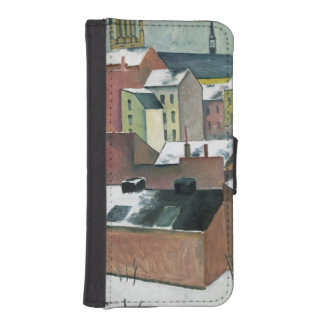 The Church of St Mary in Bonn in Snow, 1911 Wallet Phone Case For iPhone SE/5/5s