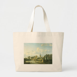 The church of St. Severin in Cologne in a fictive Large Tote Bag