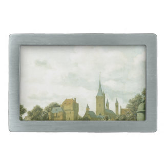 The church of St. Severin in Cologne in a fictive Rectangular Belt Buckle