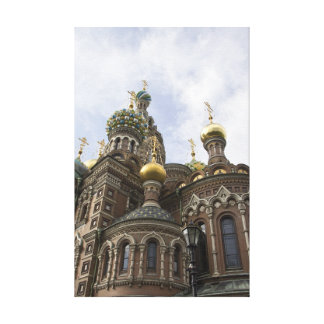 The Church of the Savior on Spilled Blood Stretched Canvas Prints