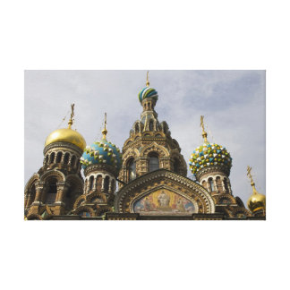 the Church of the Savior on Spilled Blood Stretched Canvas Print