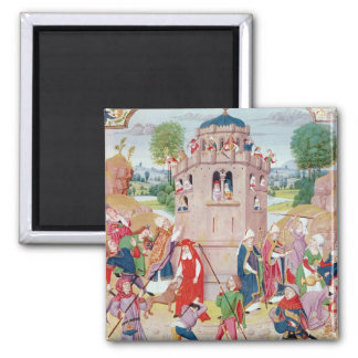 The Church under attack from heretics, Flemish Fridge Magnet