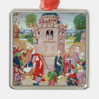 The Church under attack from heretics Flemish Ornament