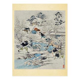 The Chushingura assualt on Kira Yoshinakas home Postcard