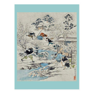 The Chushingura assualt on Kira Yoshinakas home Post Card