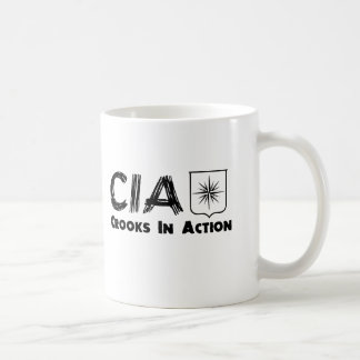 The CIA Crooks In Action Classic White Coffee Mug