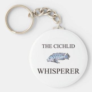 The Cichlid Whisperer Basic Round Button Keychain