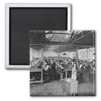 The cigar manufacturing departments 2 inch square magnet