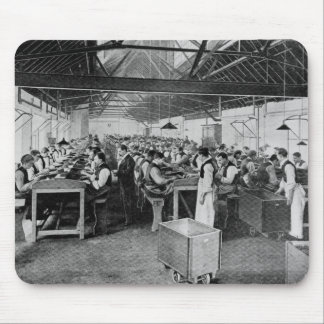 The cigar manufacturing departments mouse pad