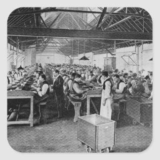 The cigar manufacturing departments square sticker