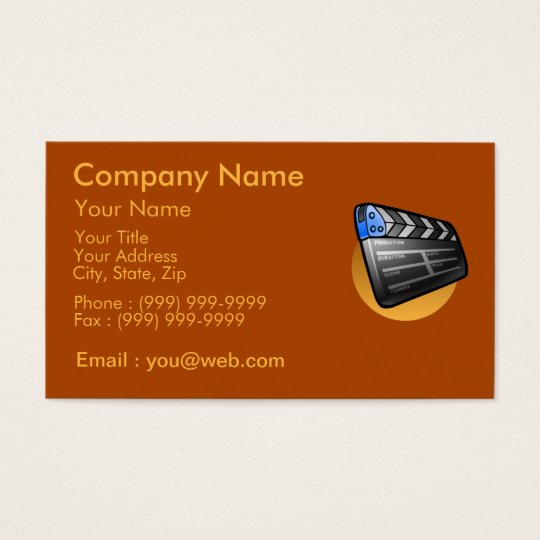 The cinema industry business card