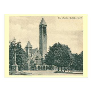 The Circle, Buffalo, New York Vintage Postcard