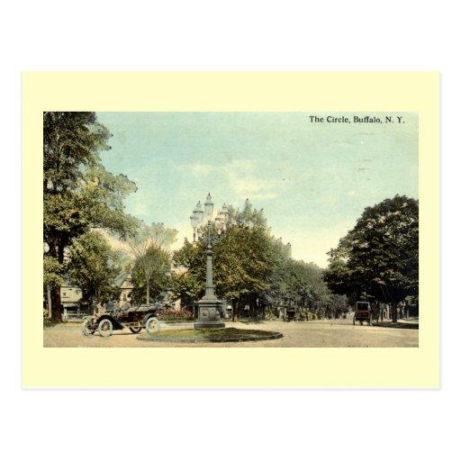 The Circle, Buffalo NY 1913 Vintage Post Cards