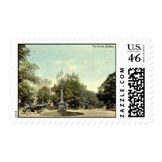 The Circle, Buffalo NY 1913 Vintage stamp