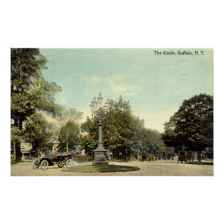 The Circle Buffalo NY 1913 Vintage Poster