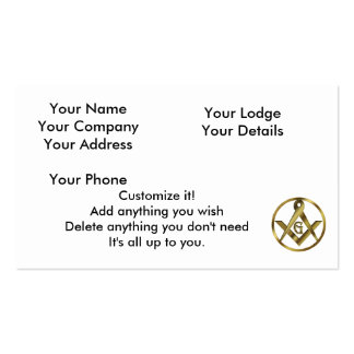 The Circle of Masons Business Card Templates