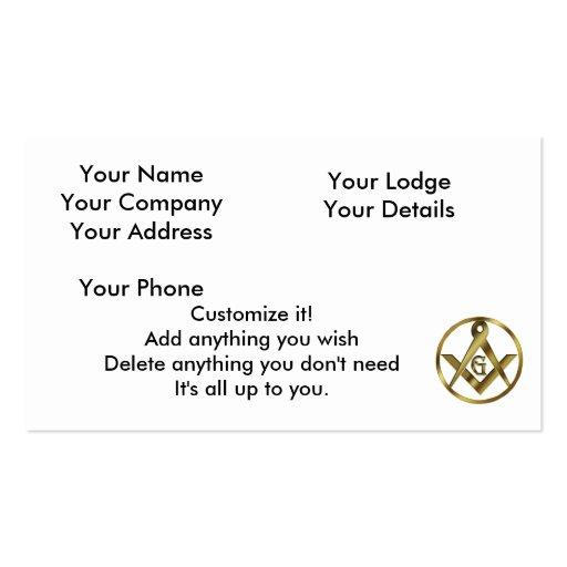 Masonry business card templates page3 bizcardstudio for Circle business card template