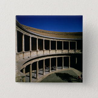 The Circular Courtyard of the Palace of Charles Pinback Button